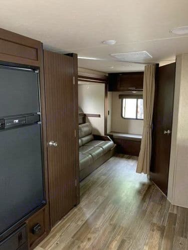Rear slide out for the back bunkhouse - super roomy and a place for the kids to chill!. Forest River Patriot Edition 2017