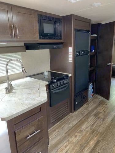 Spacious kitchen with lots of counter top space!. Forest River Patriot Edition 2017
