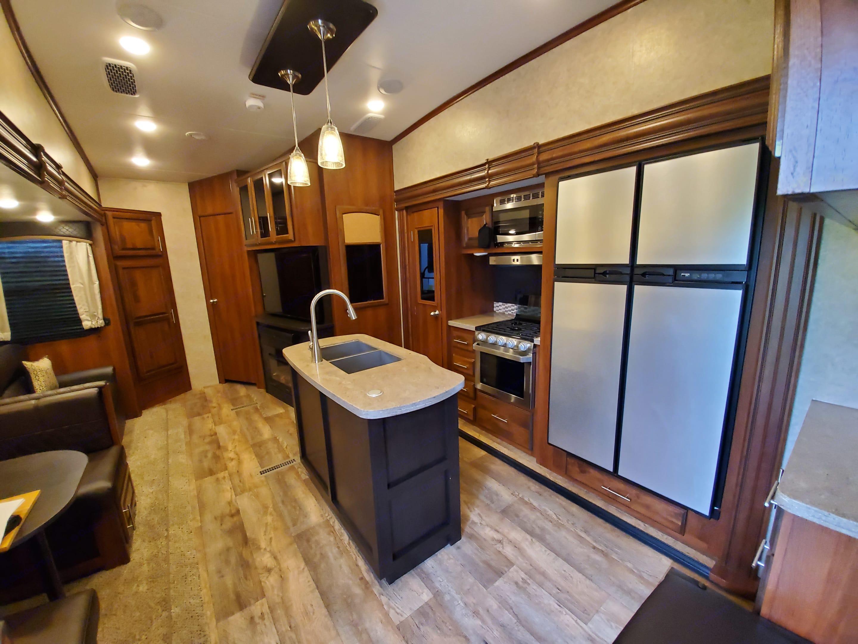 Kitchen and living area . Jayco Eagle 347BHOK 2018