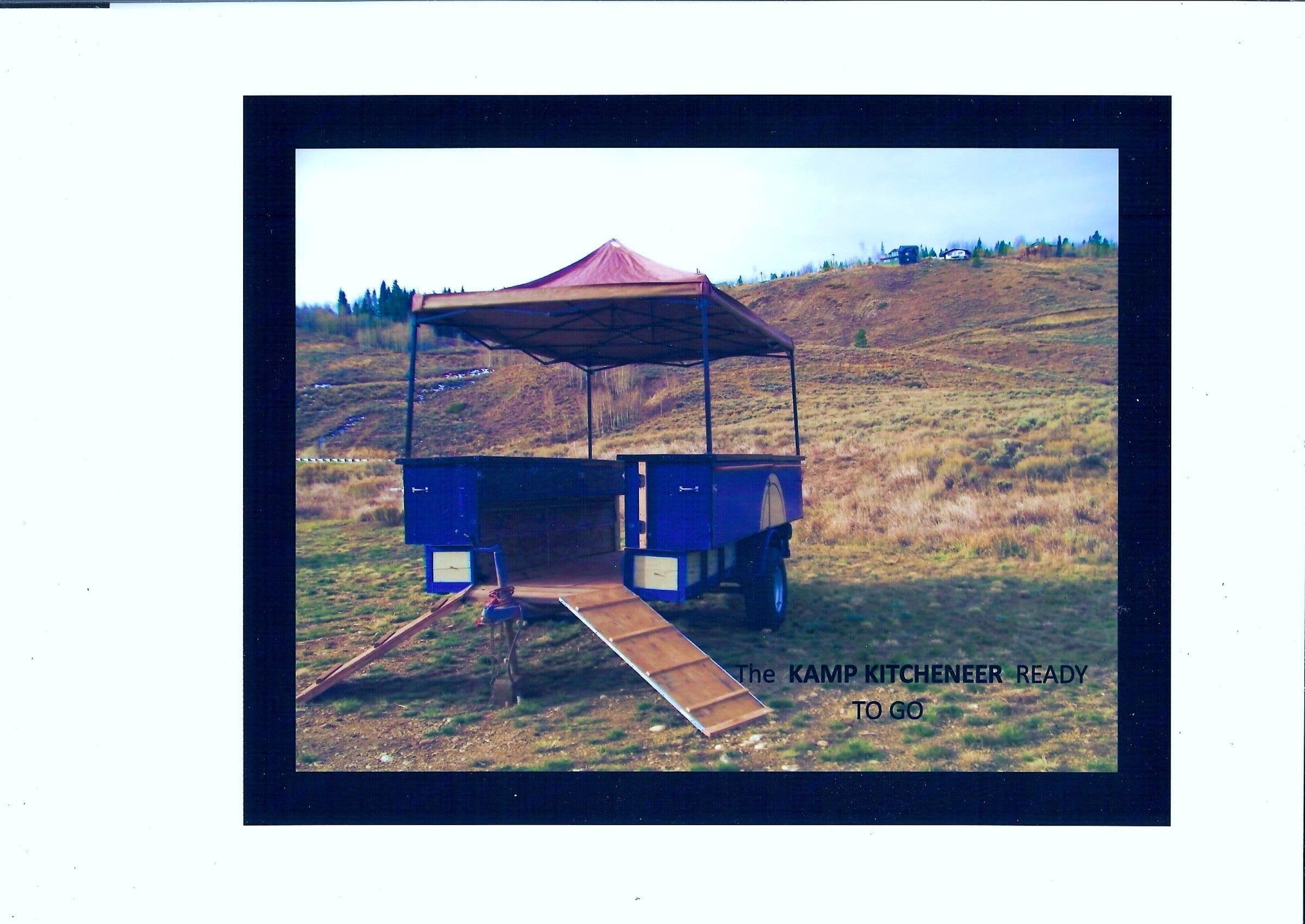 Kamp Kitcheneer Ready To Go. Private manufacturer Kamp Kitcheneer Off Road Kitchen Trailer 2016