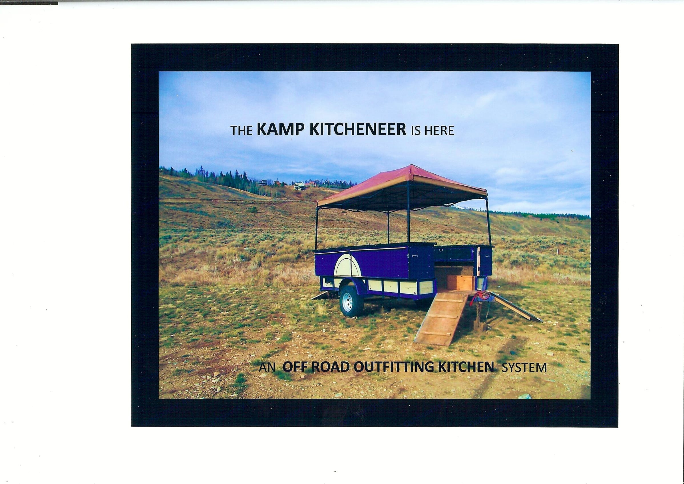 The Kamp Kitcheneer - An Off Road Kitchen System. Private manufacturer Kamp Kitcheneer Off Road Kitchen Trailer 2016