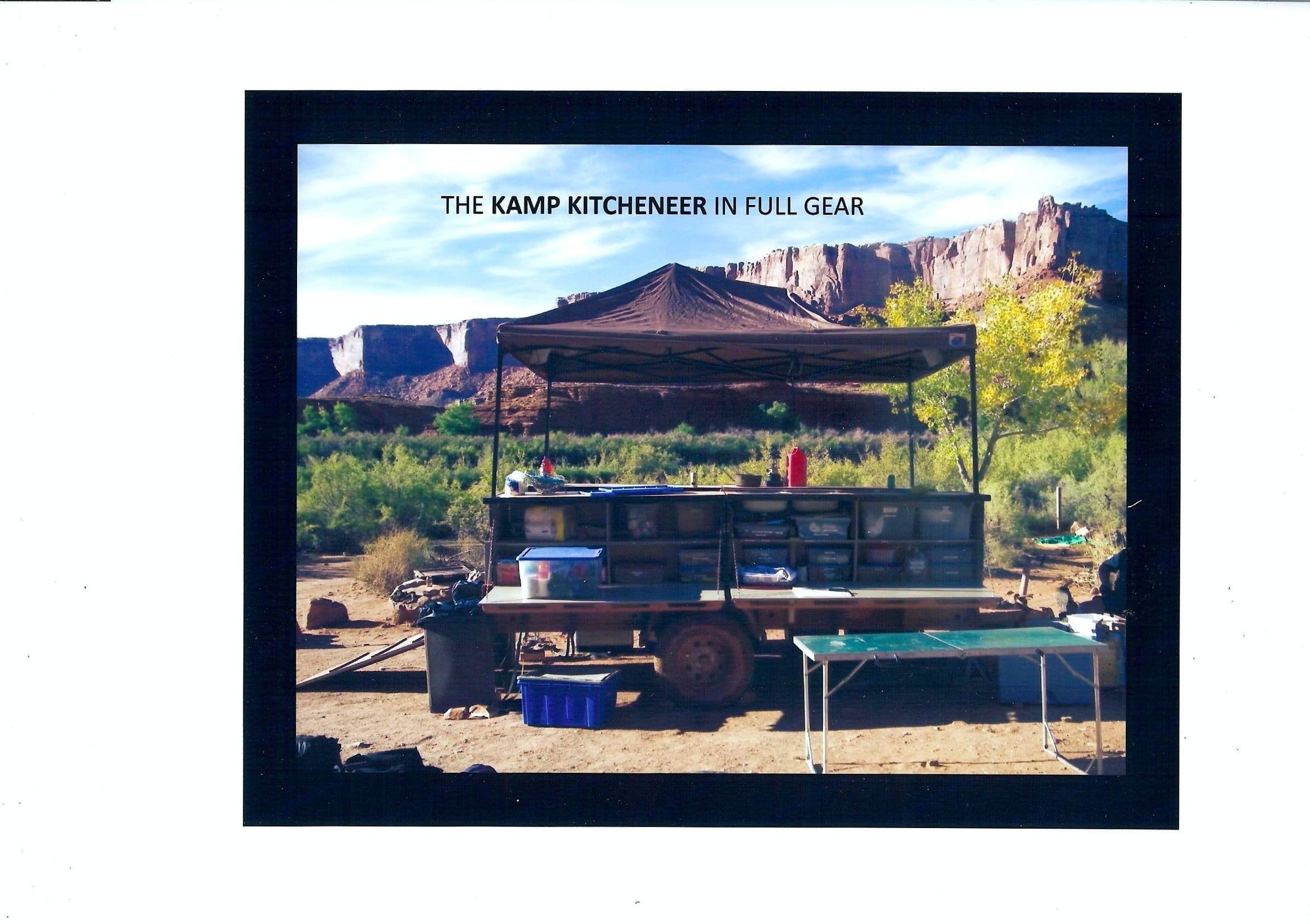 Kamp Kitcheneer In Full Gear. Private manufacturer Kamp Kitcheneer Off Road Kitchen Trailer 2016