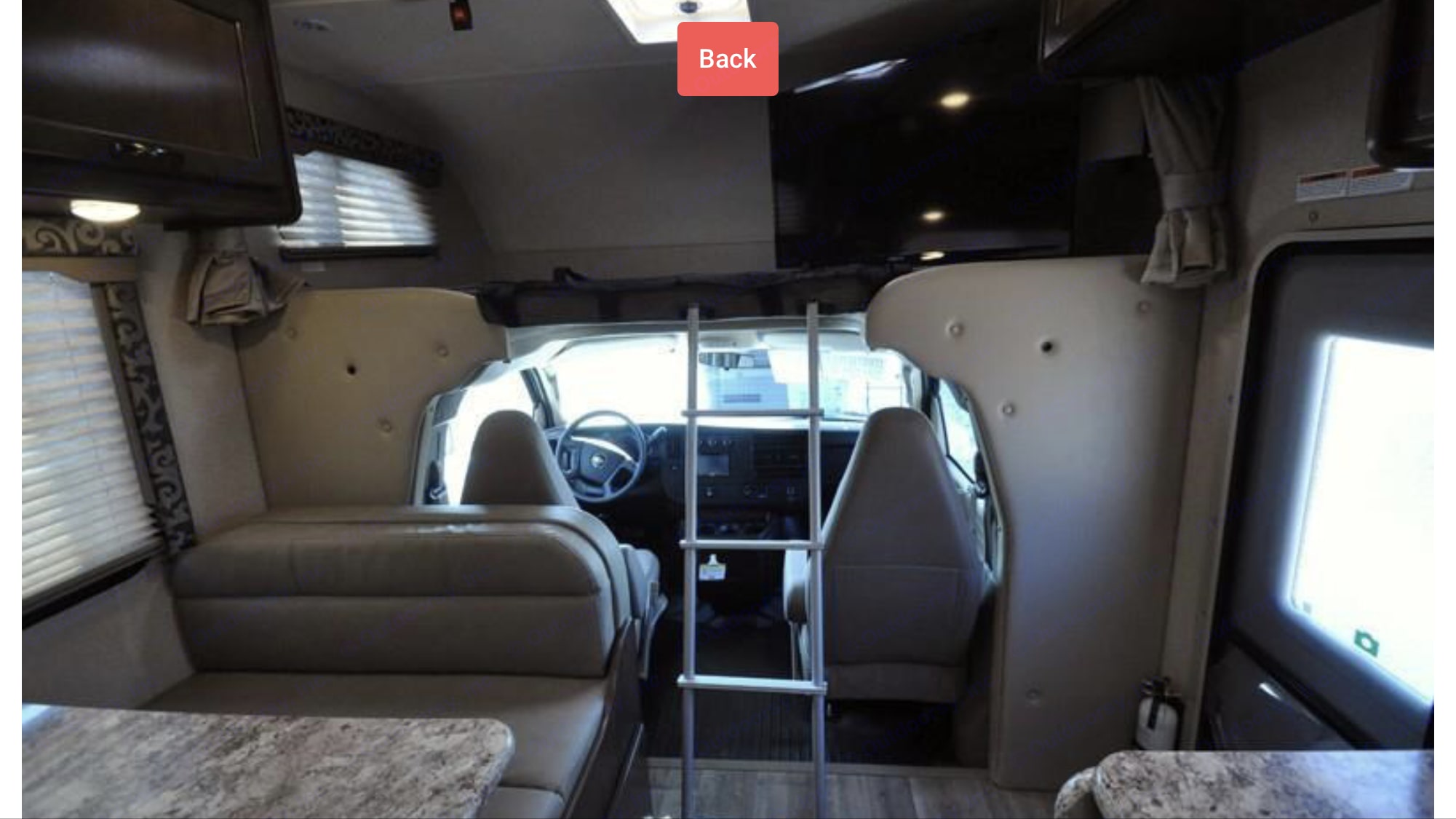 see overhead bunk and television. Thor Motor Coach Four Winds 2018