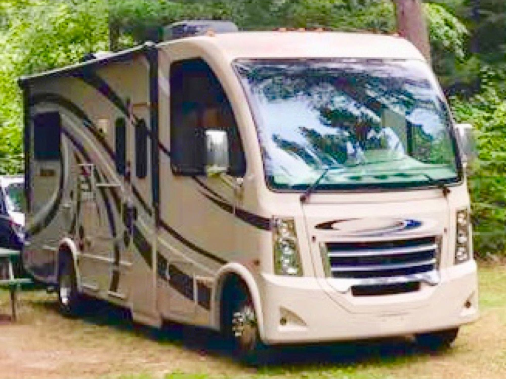 Panoramic view from front windows!. Thor Motor Coach Vegas 2016