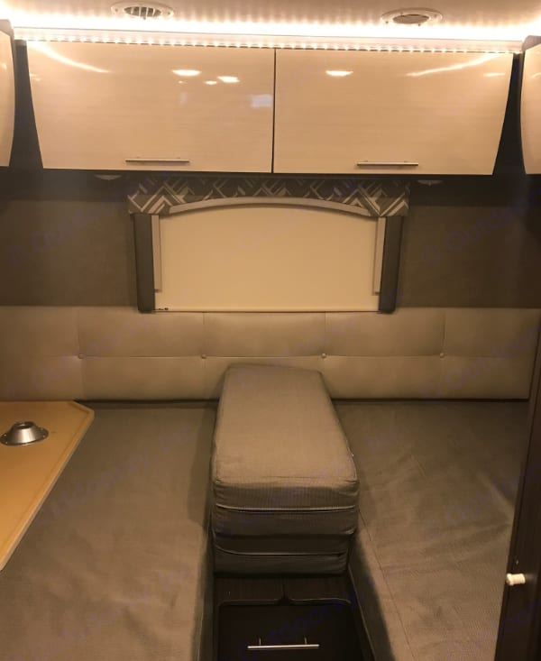 Rear Beds/Bed if middle part is set in place.  It's a king when set as one single bed or 2 twin beds as shown. . ThorMotorCoach Axis 24.1 2018