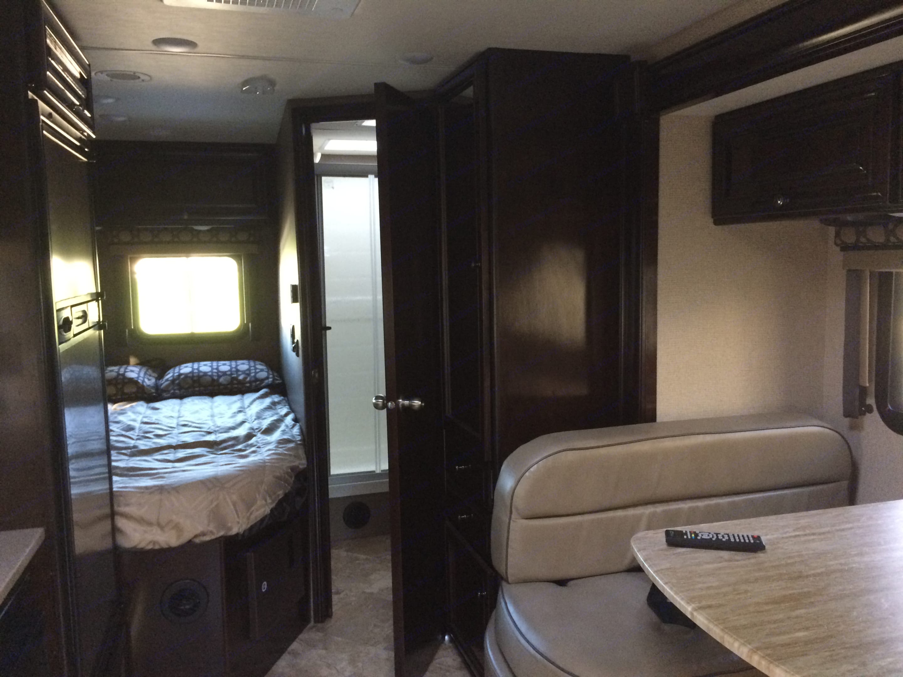 Queen Bed and bath room. Thor Motor Coach Citation 2017