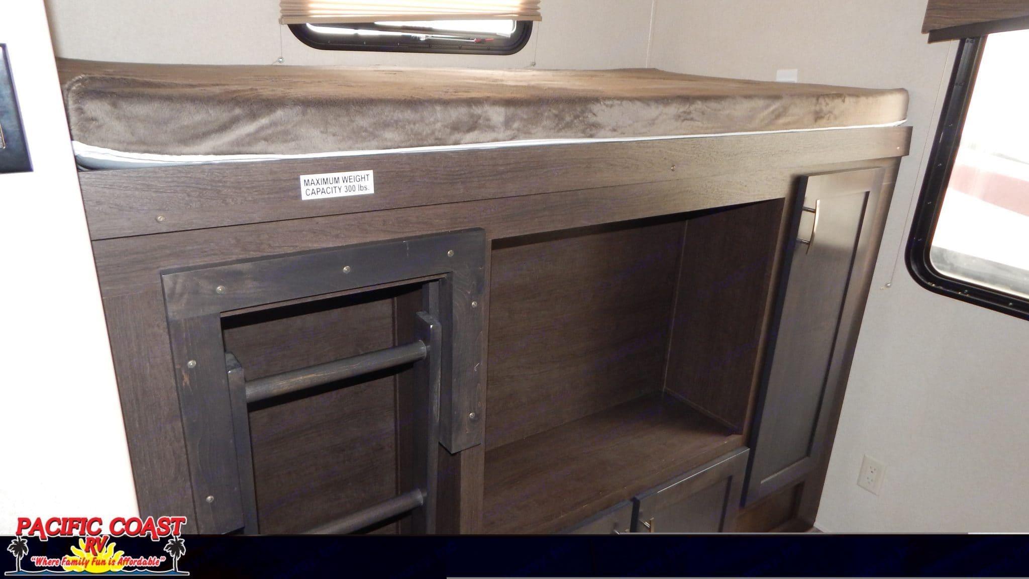 Bunk 1- rear bedroom . Forest River Evo 2018