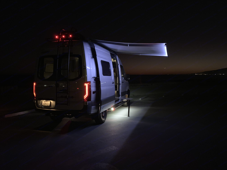 Campsite is lit up.. Winnebago Revel 4x4 2020
