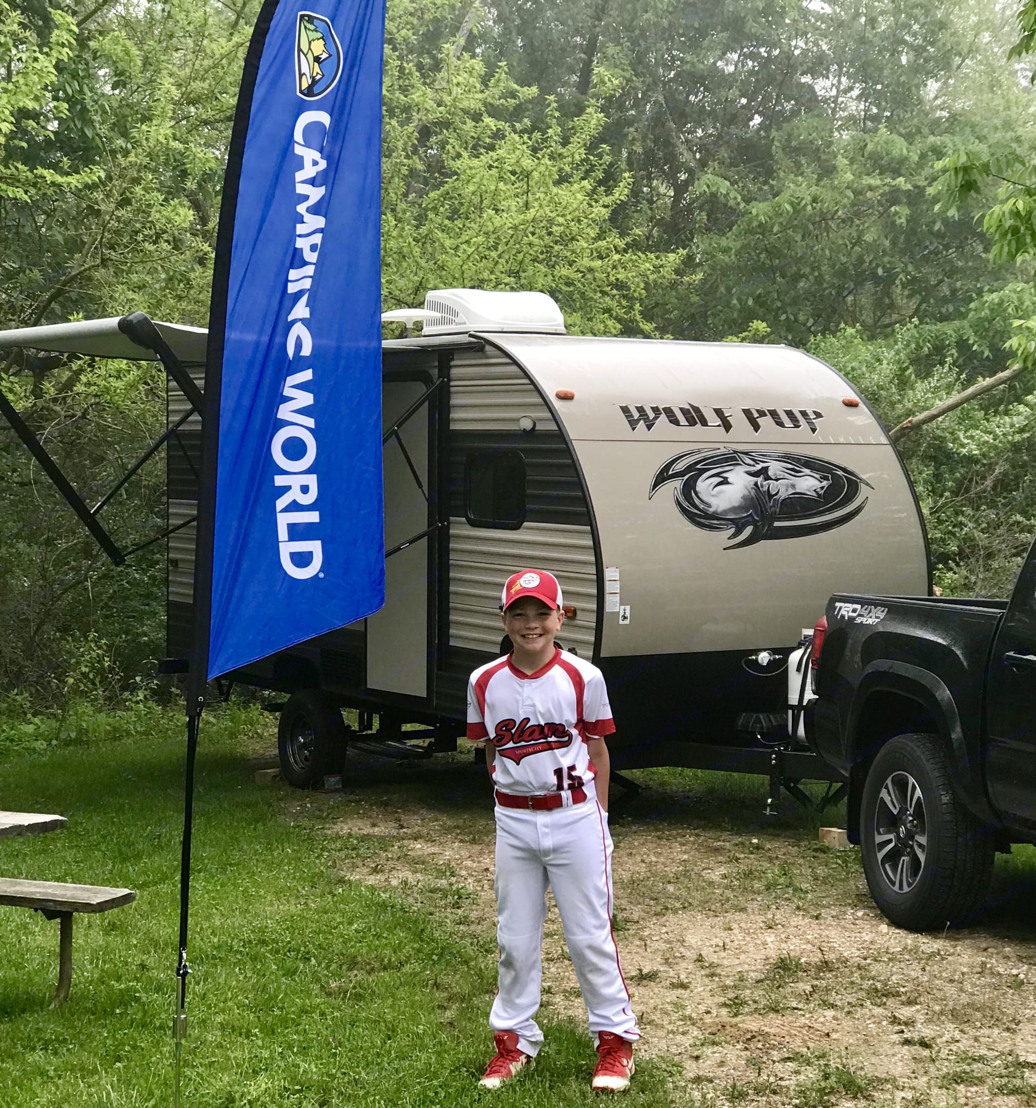 Great for overnight baseball games.. Forest River Wolf Pup 2016