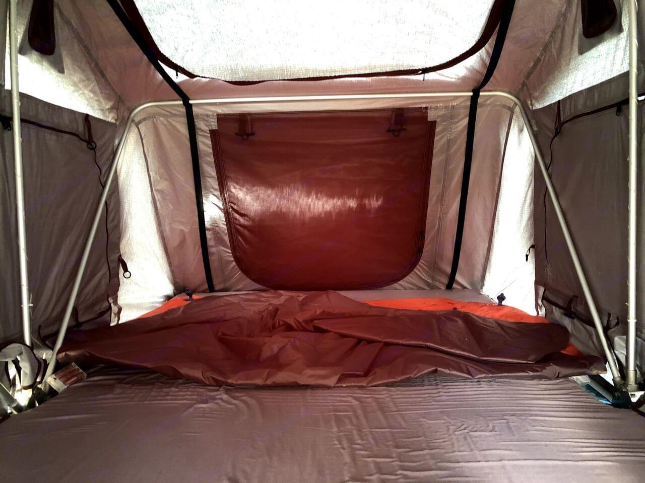 Inside rooftop camper when deployed. sleeps 2-3 comfortably. Volkswagen Passat 2008