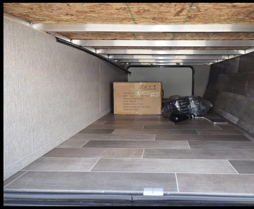 Underneath storage. Dutchmen Coleman 2019