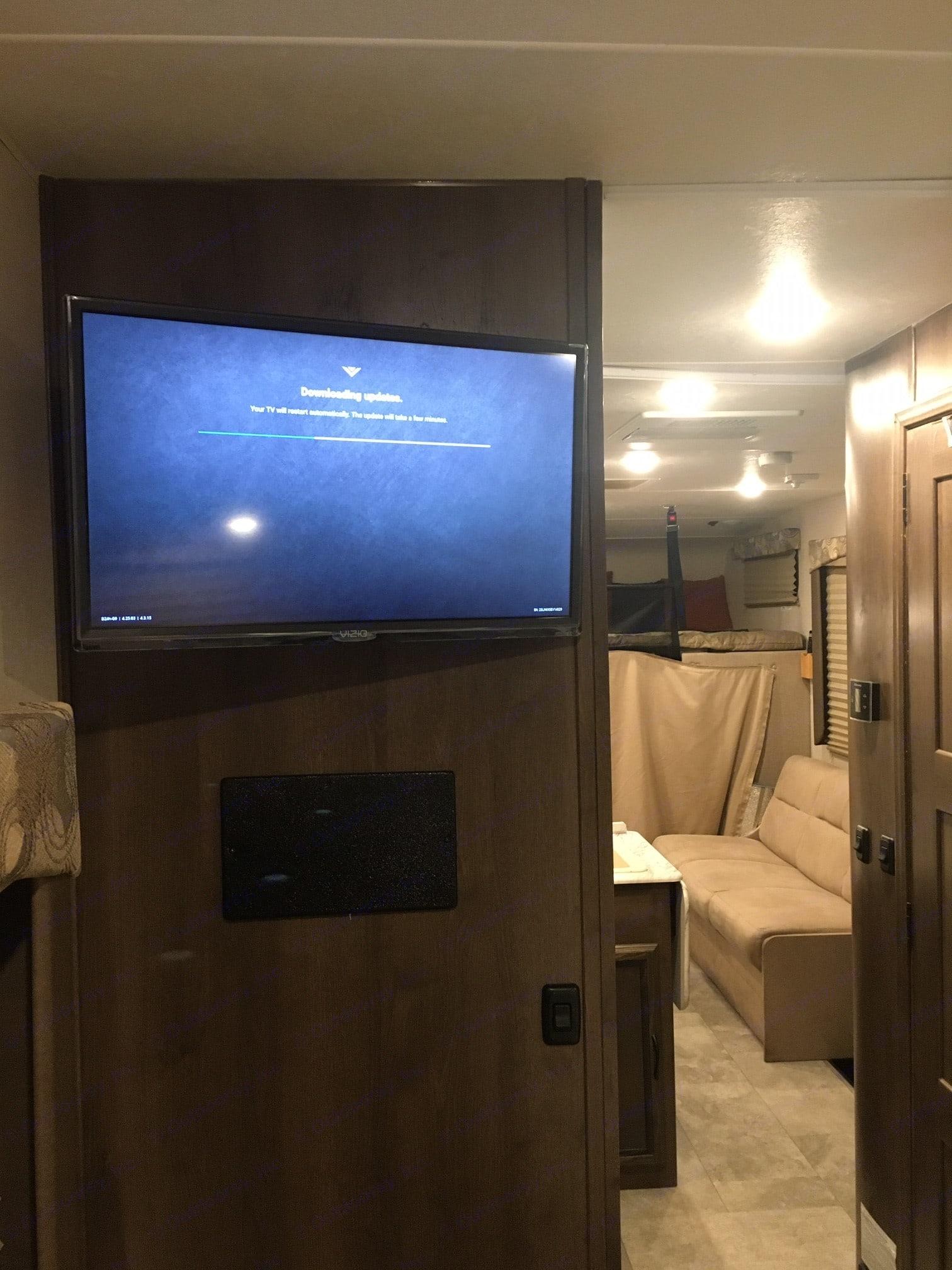 Smart TV also in the rear bed room!. Coachmen Freelander 2019