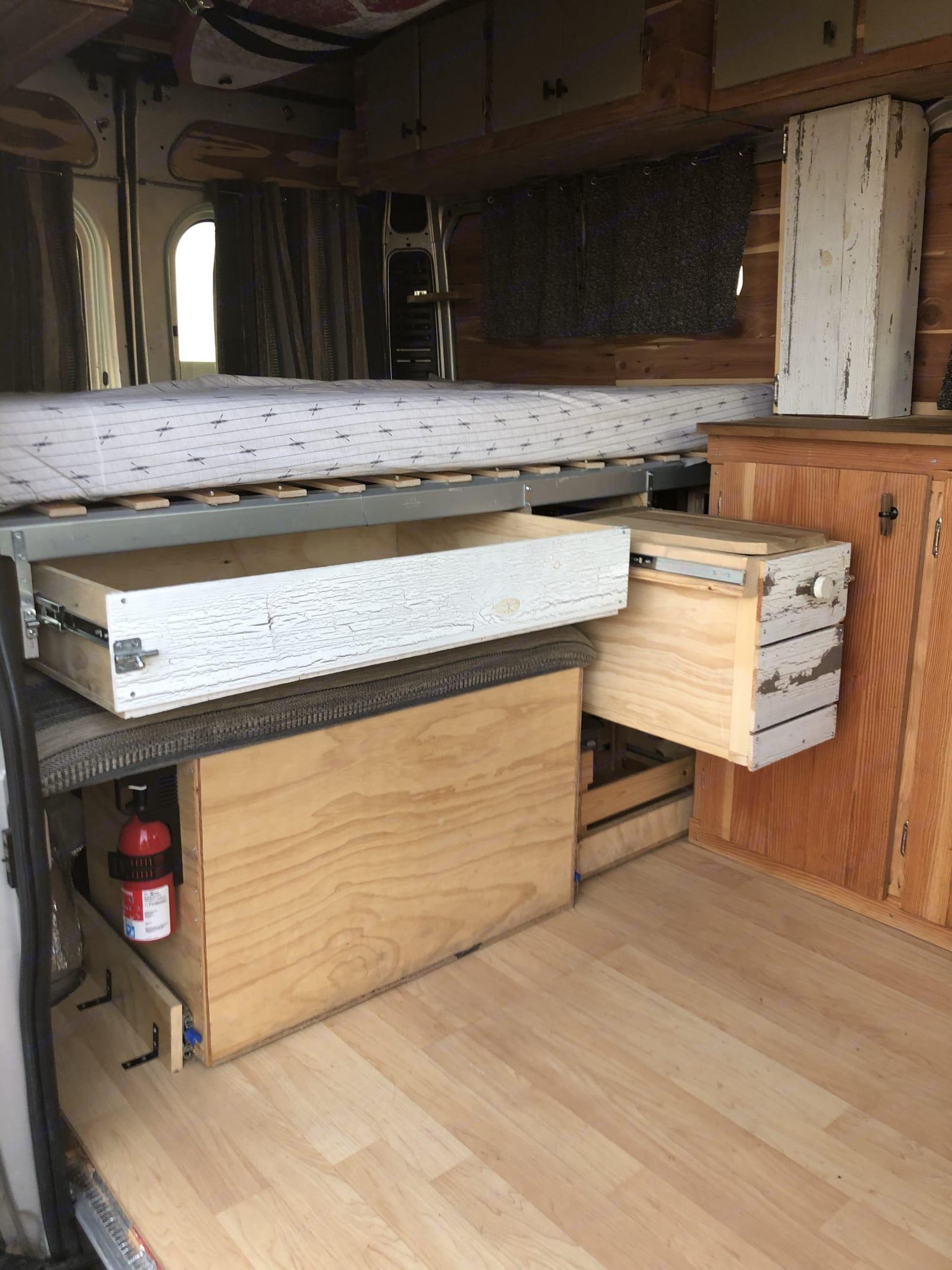 Plenty of storage. Dodge Ram 1500 2015