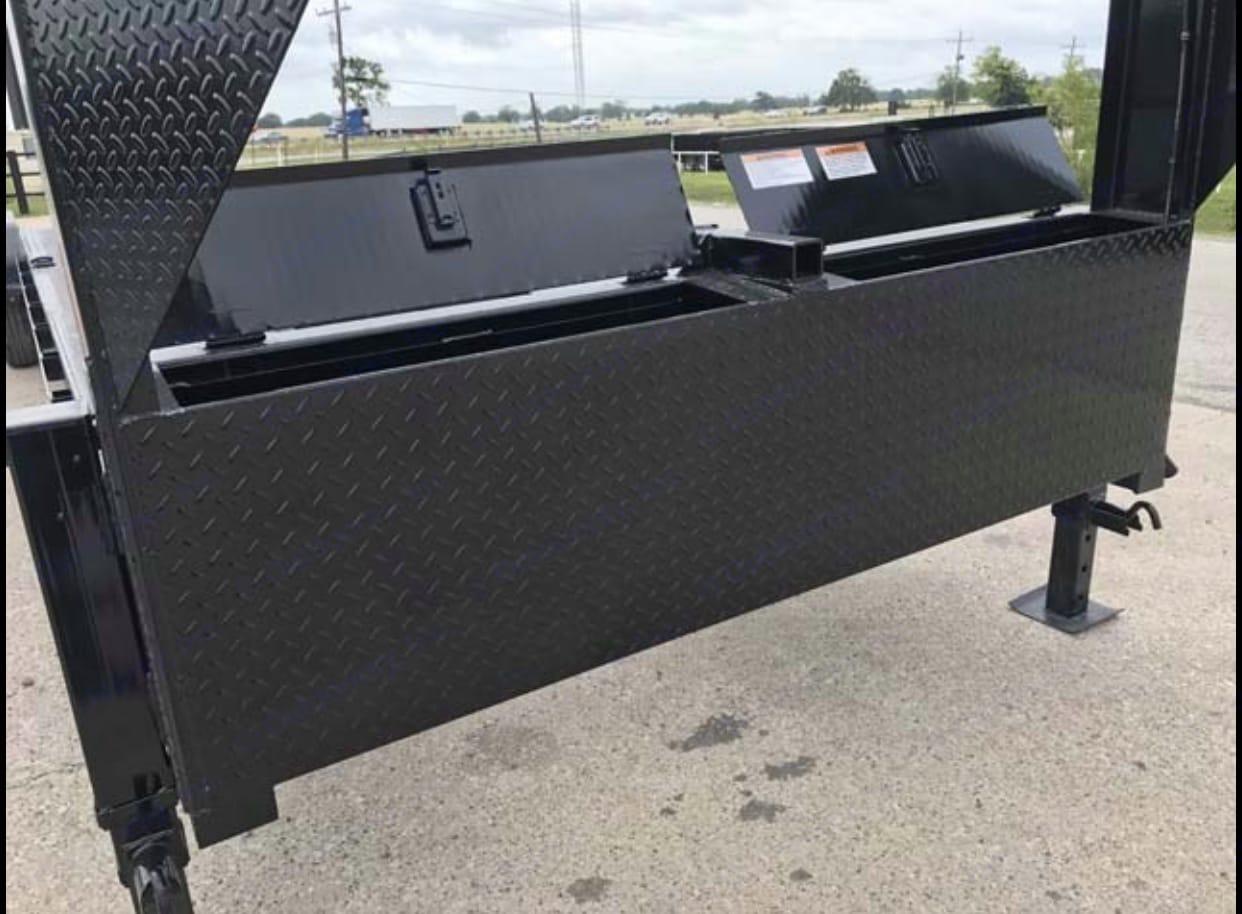 Tool box. Texas Pride Gooseneck Car Hauler Trailer 2020