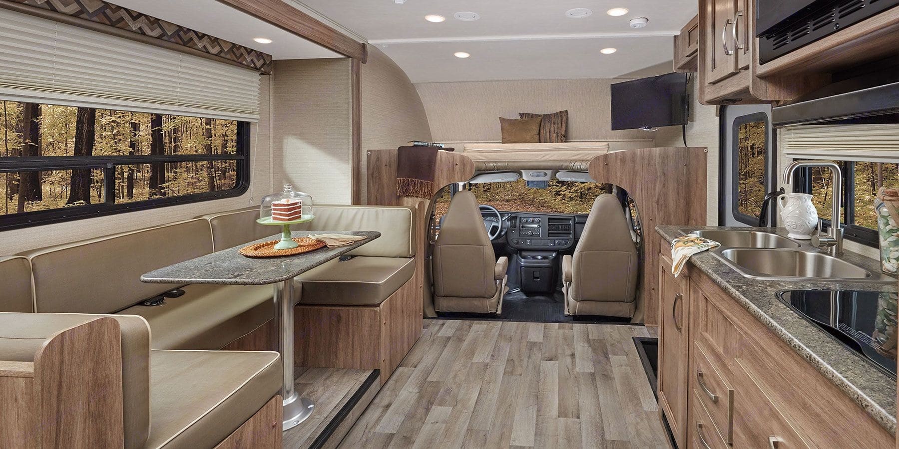 Kitchen, dining table and cockpit.. Jayco Redhawk 2020