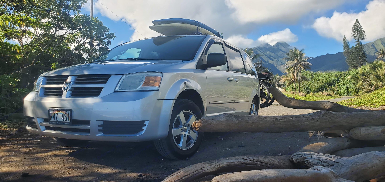 Pulling into campsite.. Dodge Grand Caravan 2009