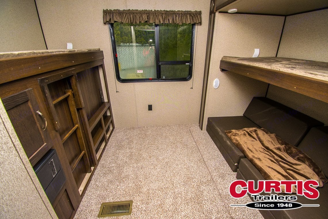 Great room for kids. Couch folds to a 2 person bed. Sleeps 4 comfortably here. . Forest River Springdale 2019