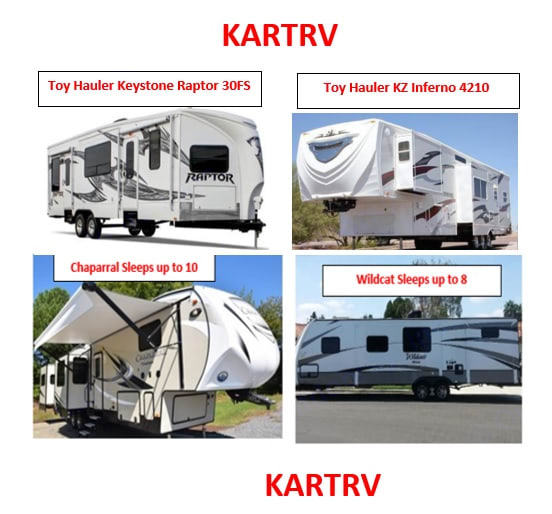 $130 - $165nt - San Diego County Trailers DELIVERED and Fully Stocked 2018