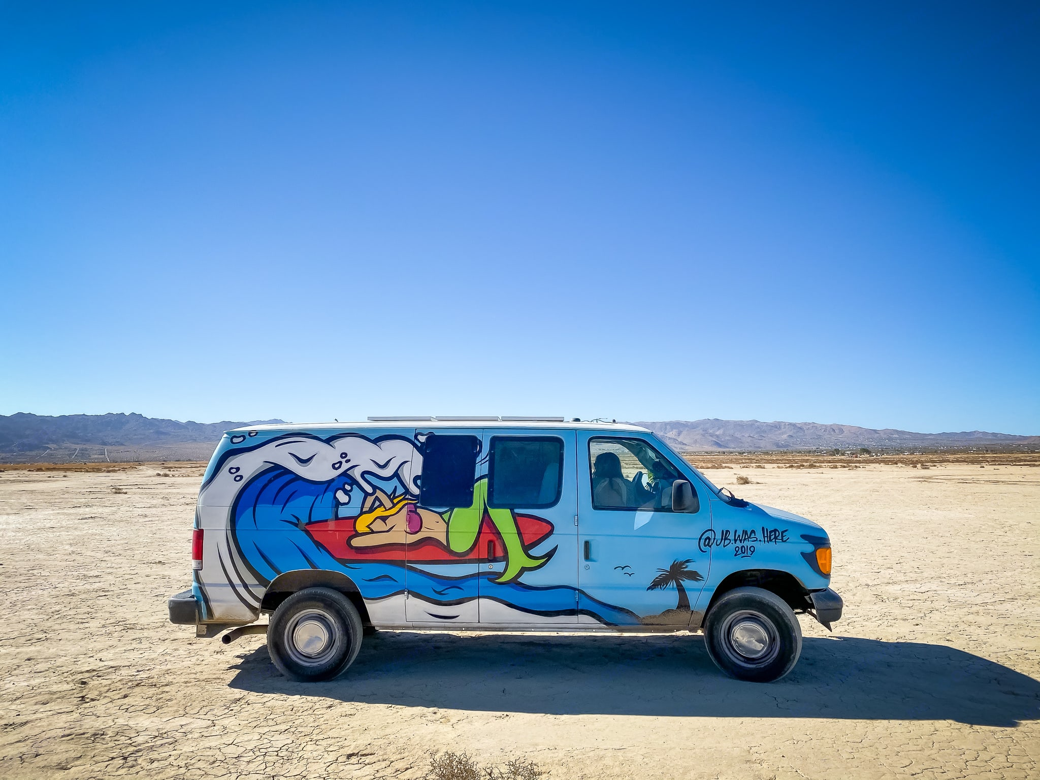 Out at Joshua tree.. Ford Econoline 2005