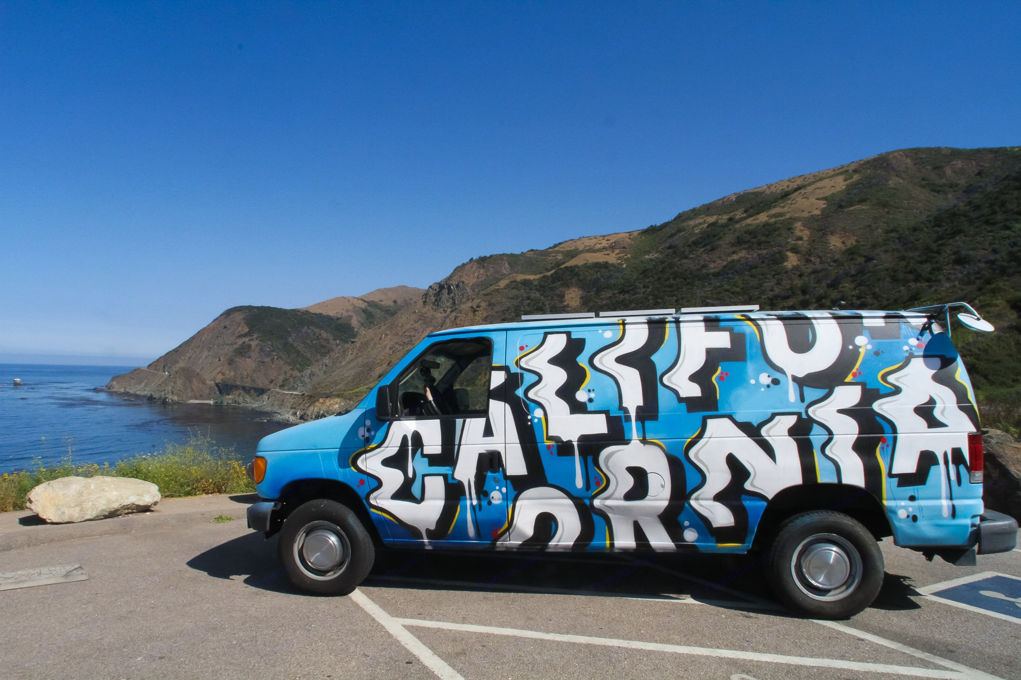 The other Iconic side of Jonequa (at Big Sur). Ford Econoline 2005