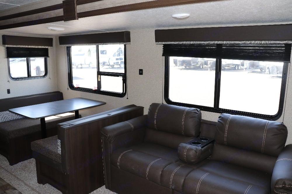 Dinette and jack knife couch. Keystone Springdale 2020