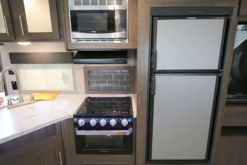 Kitchen area. Keystone Hideout 2020