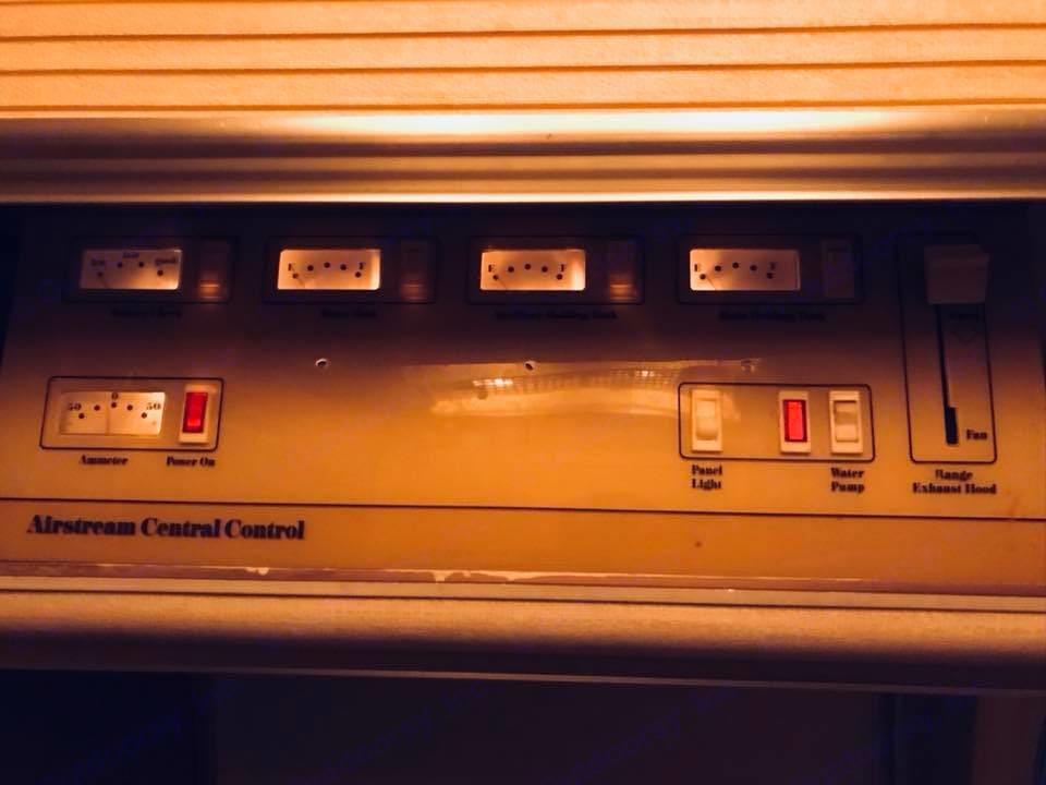 Control Panel. Airstream Safari 1974