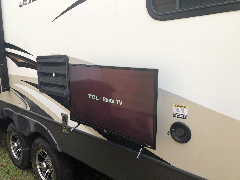Exterior Roku TV. Keystone Sprinter 2014