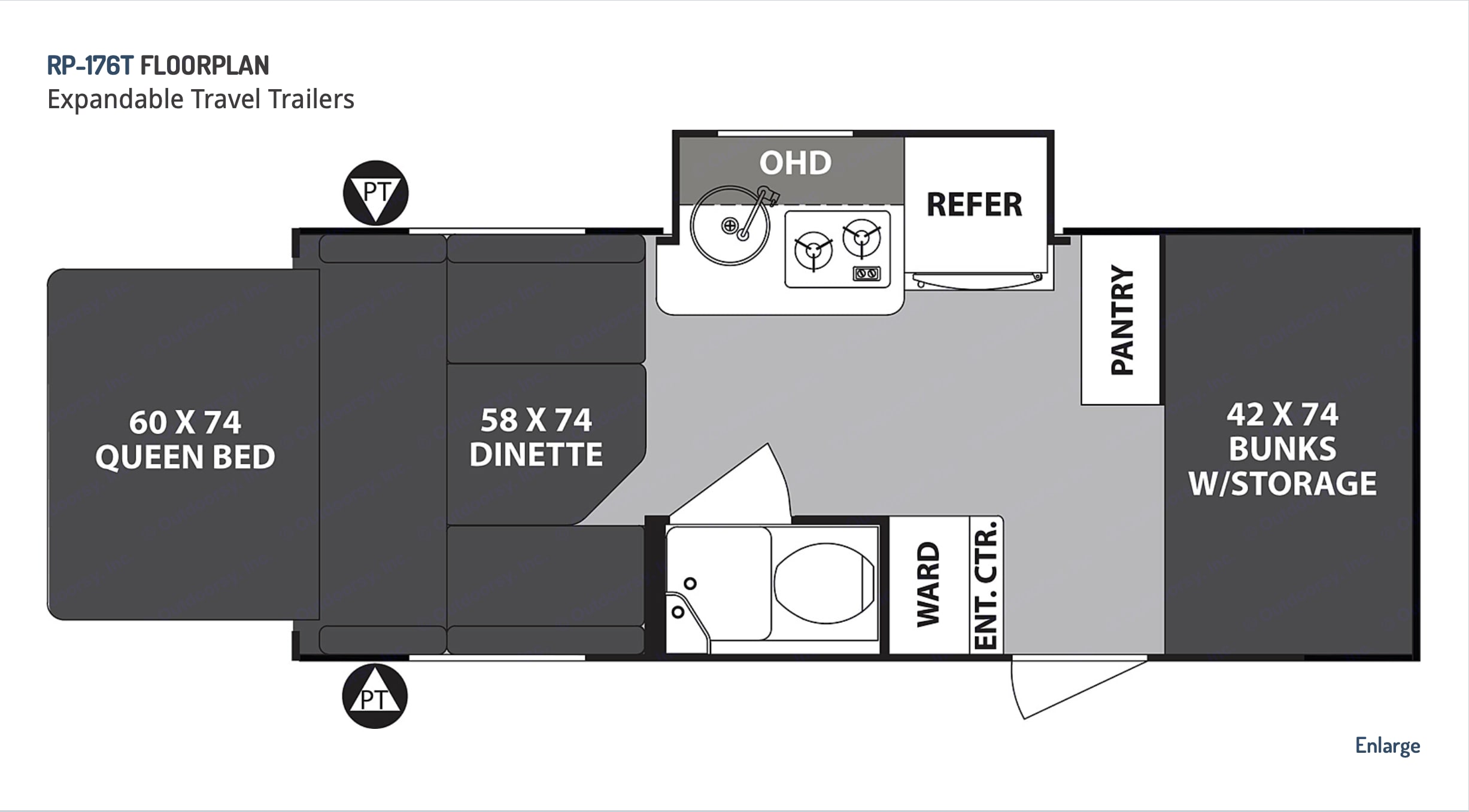 Floorpan from Forest River. . Forest River R-Pod 2020