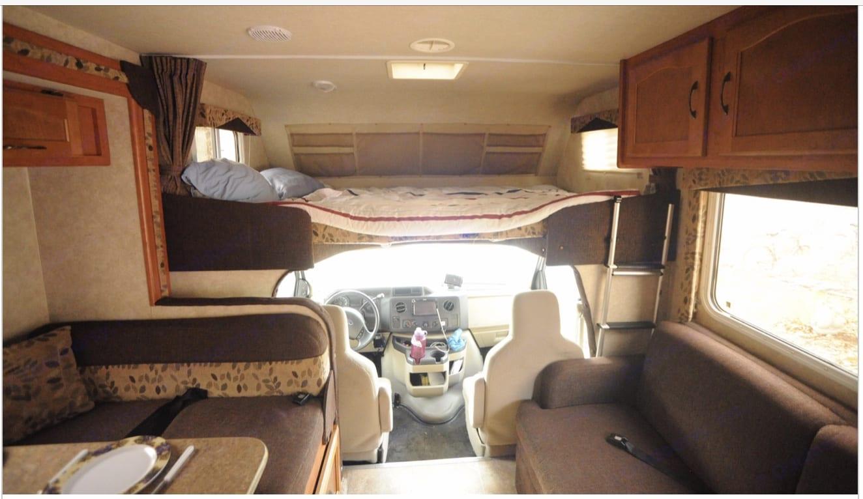 Queen bed over drivers seat. Adventurer Lp Adventurer 2012