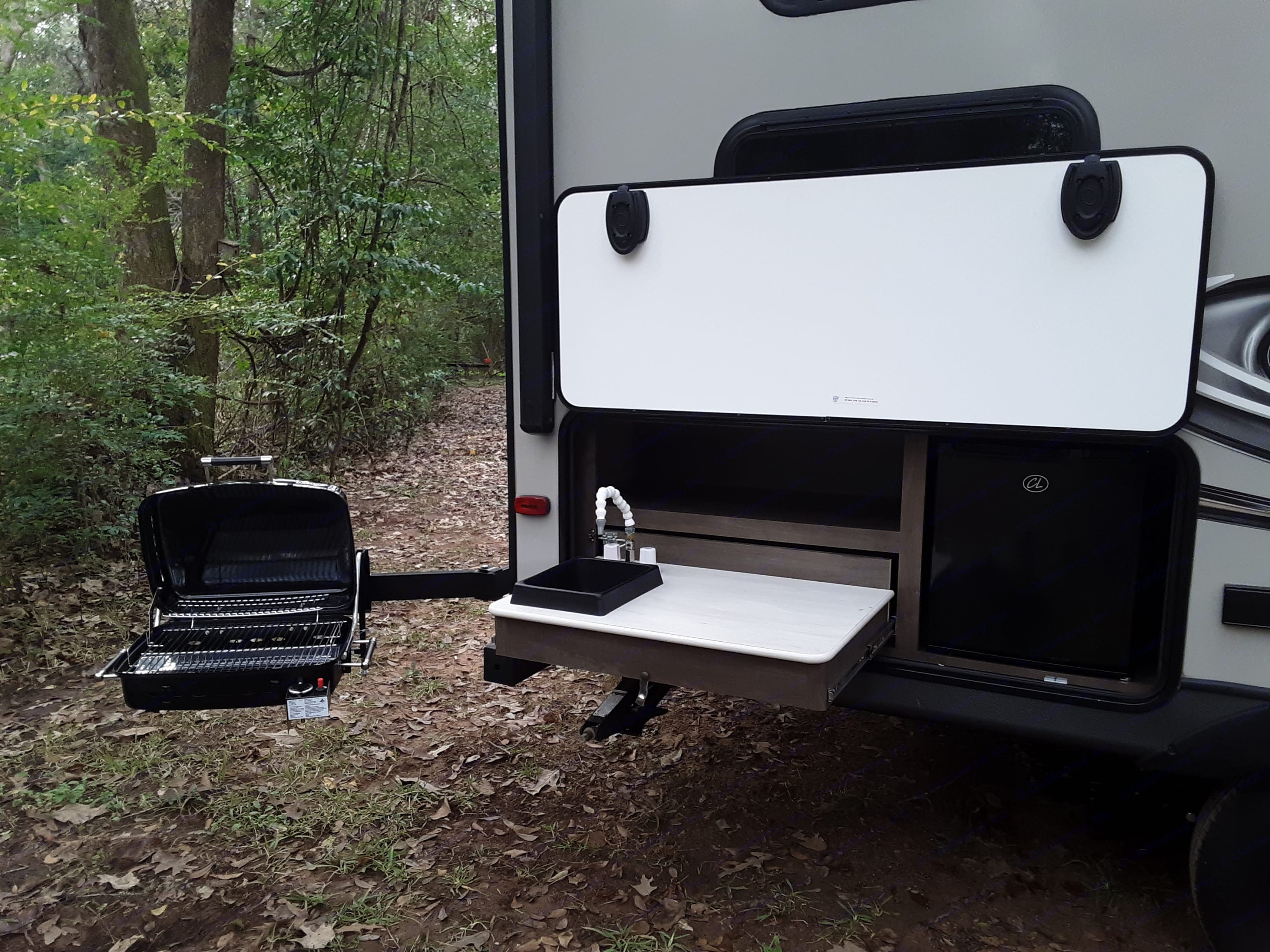 Gas grill with outdoor kitchen keep you from too many trips inside!. Dutchmen Coleman 2019