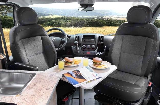 Seats can be swirled around. Dodge B Van 2019