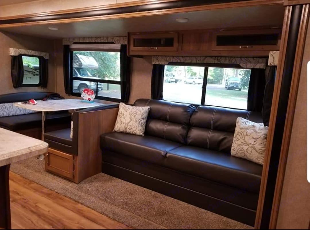 Couch and table turn into beds. Coachmen Catalina 2018