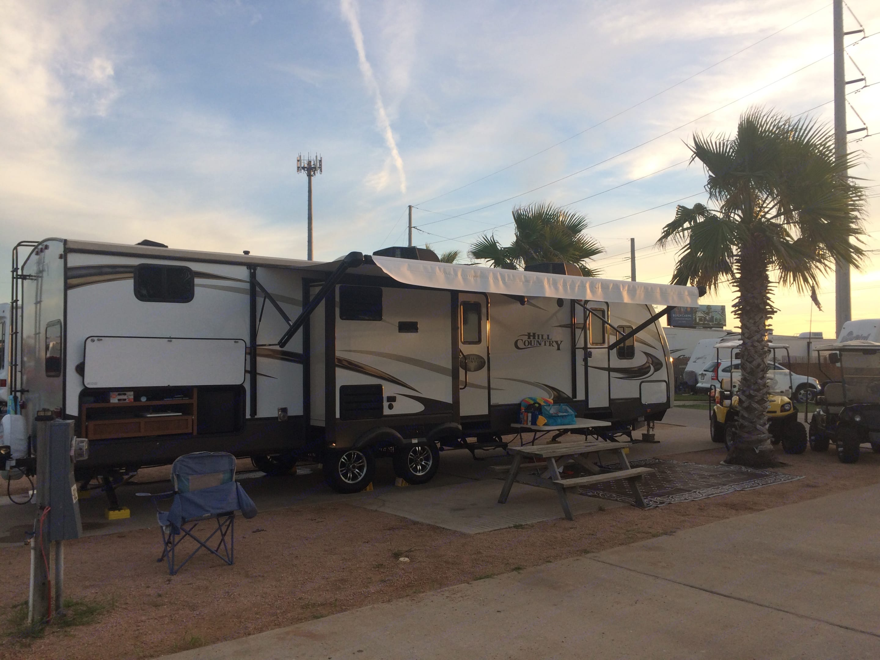 The Travel Trailer in Beautiful Port Aransas TX!! Great for extended stay vacations . Crossroads Hill Country 2016