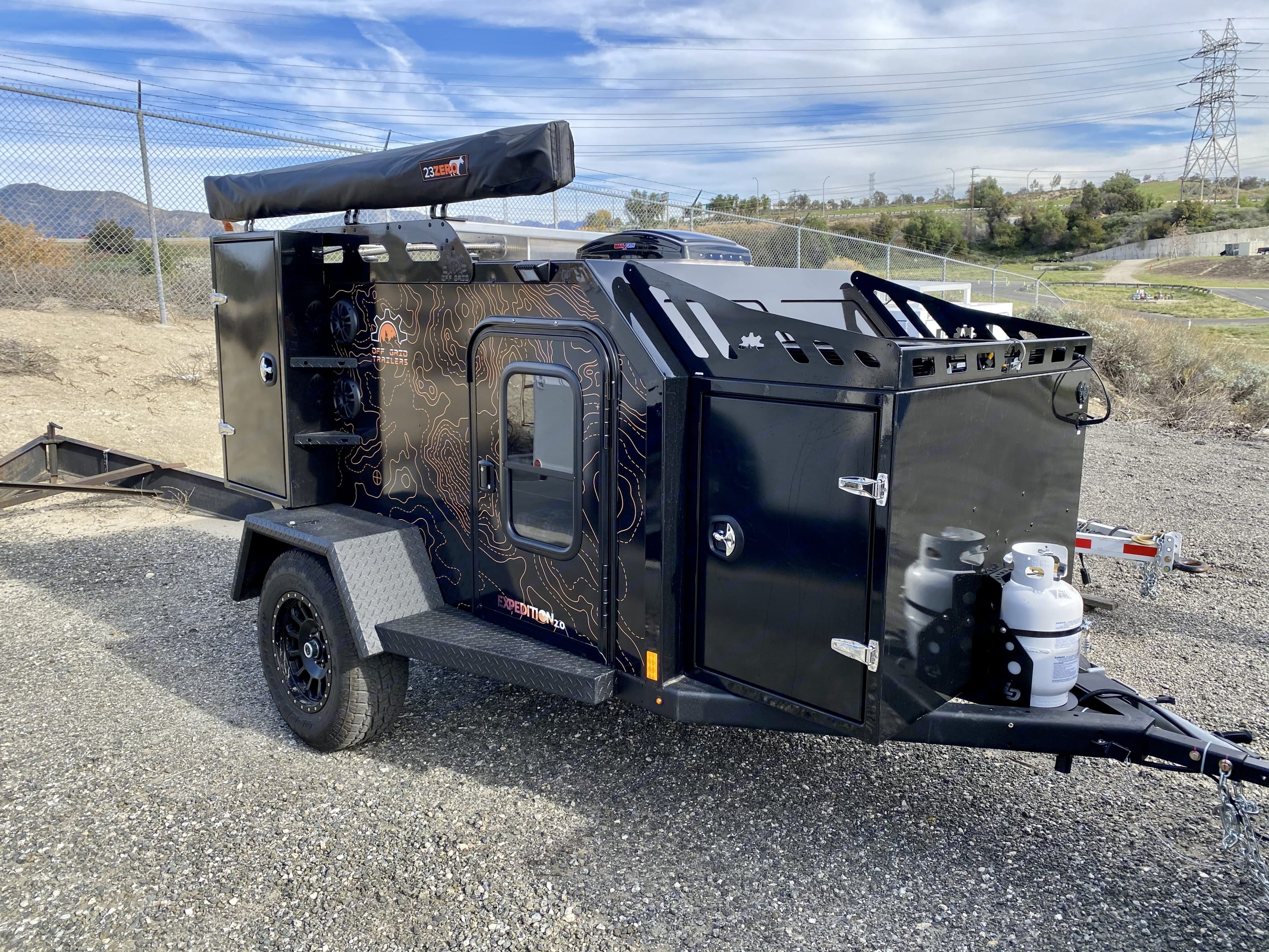 All metal construction (no wood) Black Terrain wrap. OffGrid Expedition2.0 2019