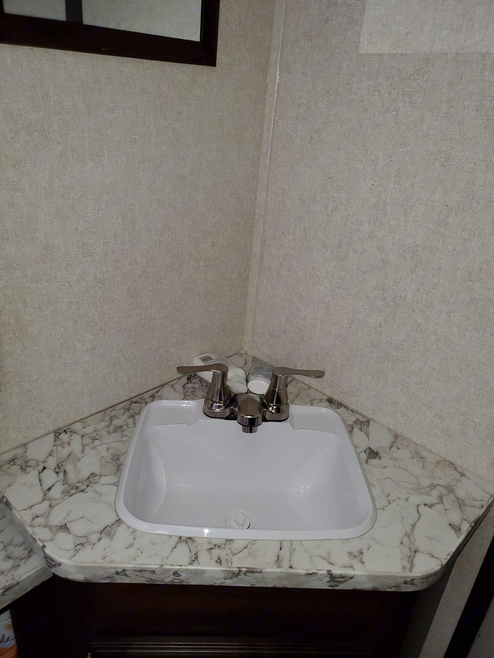 Sink in bathroom. Jayco Jay Flight 2019