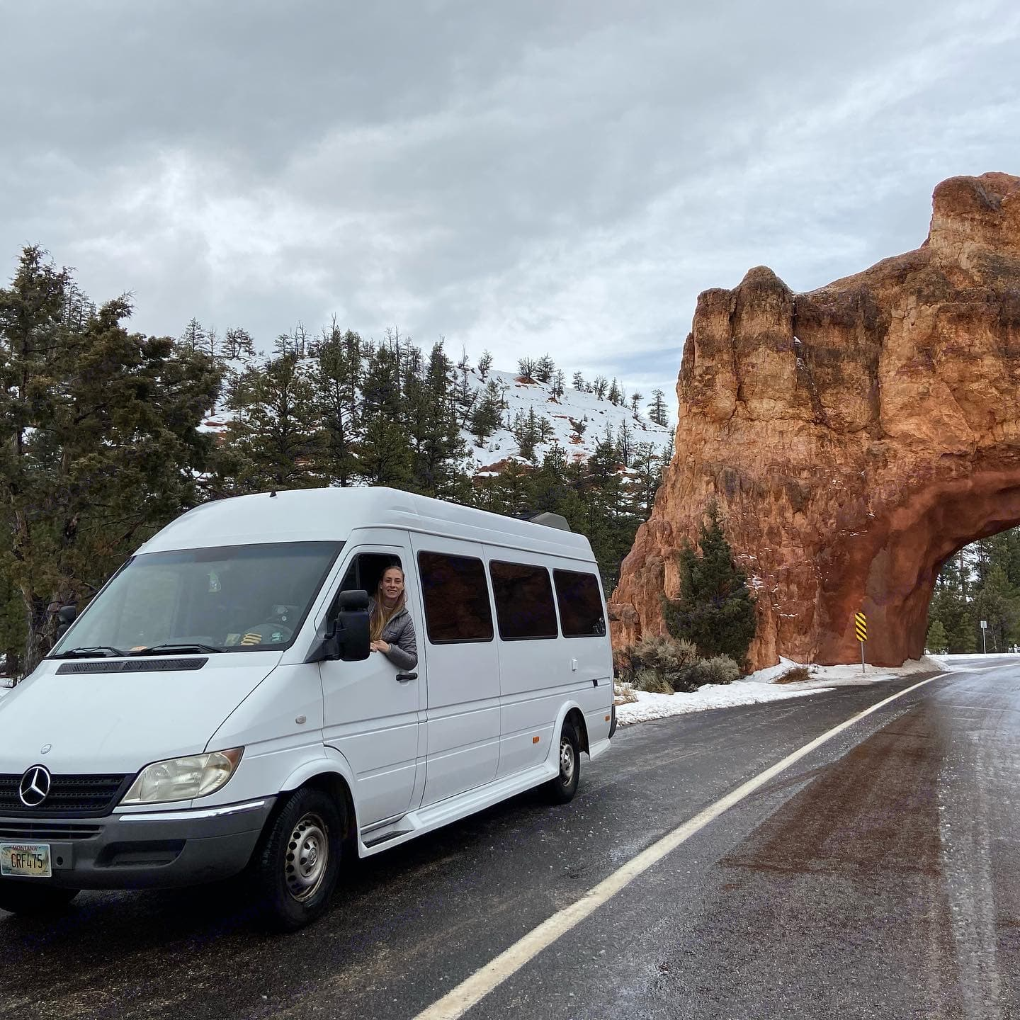 Bryce canyon in winter. Had to make sure it was warm enough!. Dodge Sprinter 2500 170ext 2004