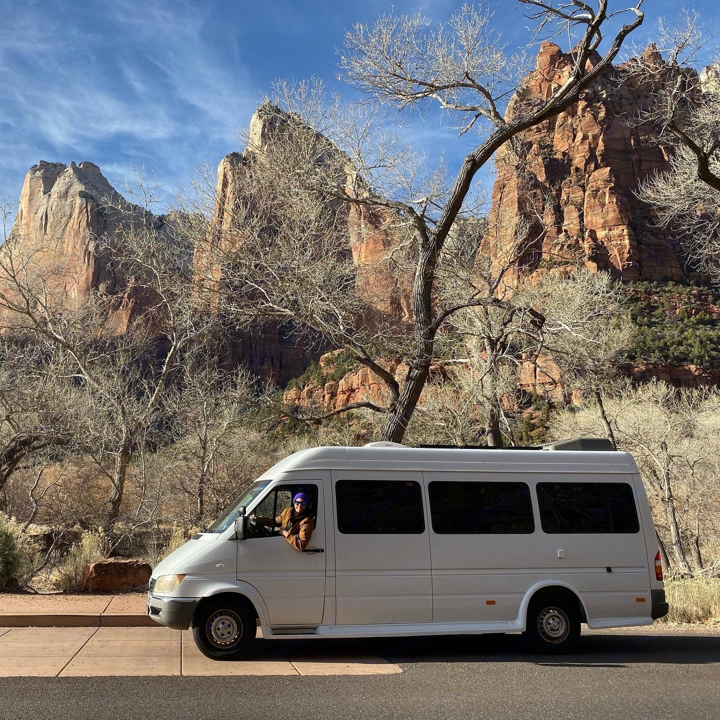 Camouflage testing in Zion National Park. Spectacular hikes! . Dodge Sprinter 2500 170ext 2004