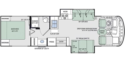 floor plan. Thor Motor Coach Hurricane 2018
