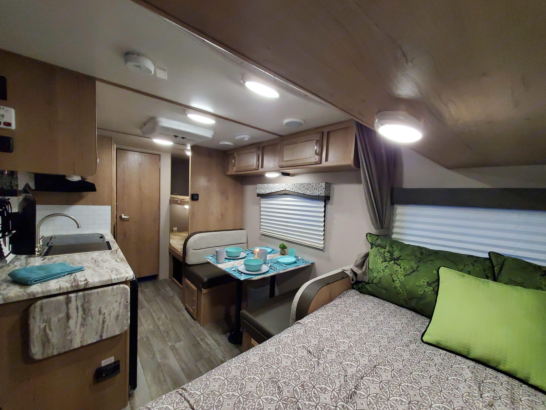 View from the inside, very spacious floorplan. . Winnebago Micro Minnie 2020