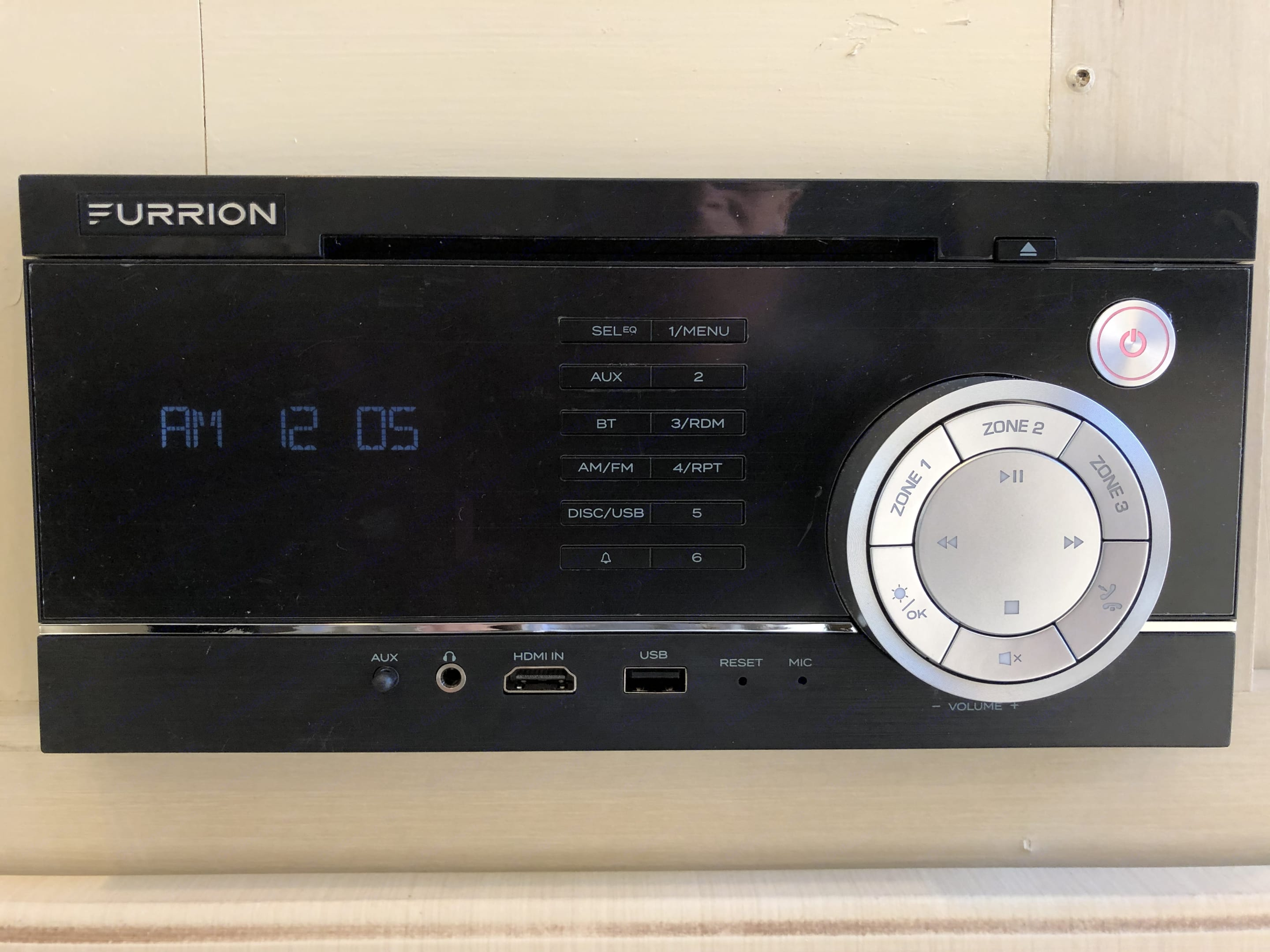 The stack stereo system has been replaced with a Furrion 200watt, three zone system.. Winnebago 2451 BHS 2017