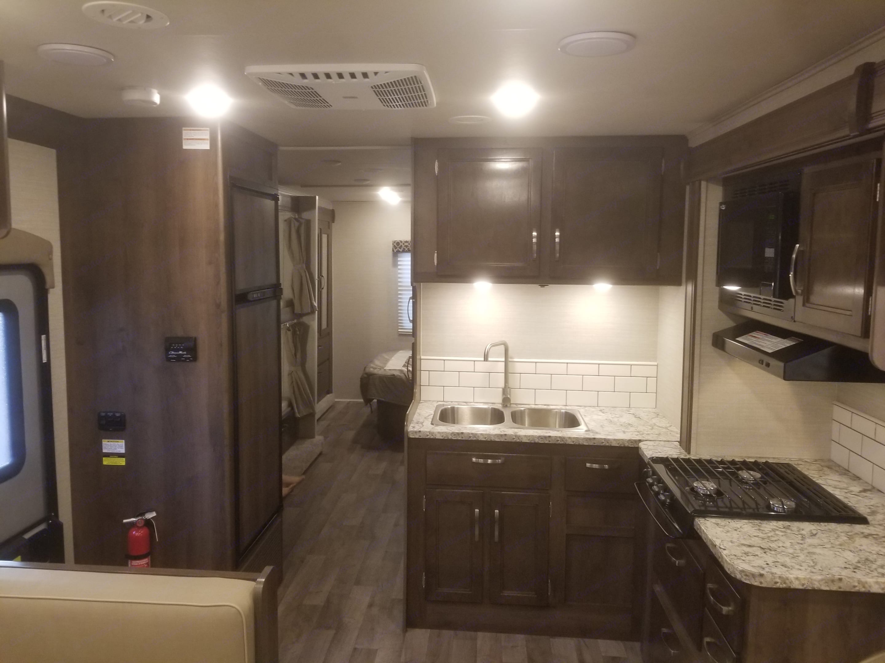 View from front looking back. Jayco Redhawk 2019