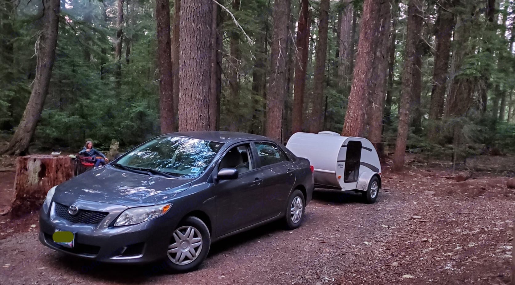 Up at a lake on Mt. Hood. So easy to tow. Even with a Toyota Corolla, you barely know it's there.. Little Guy Rascal 2009