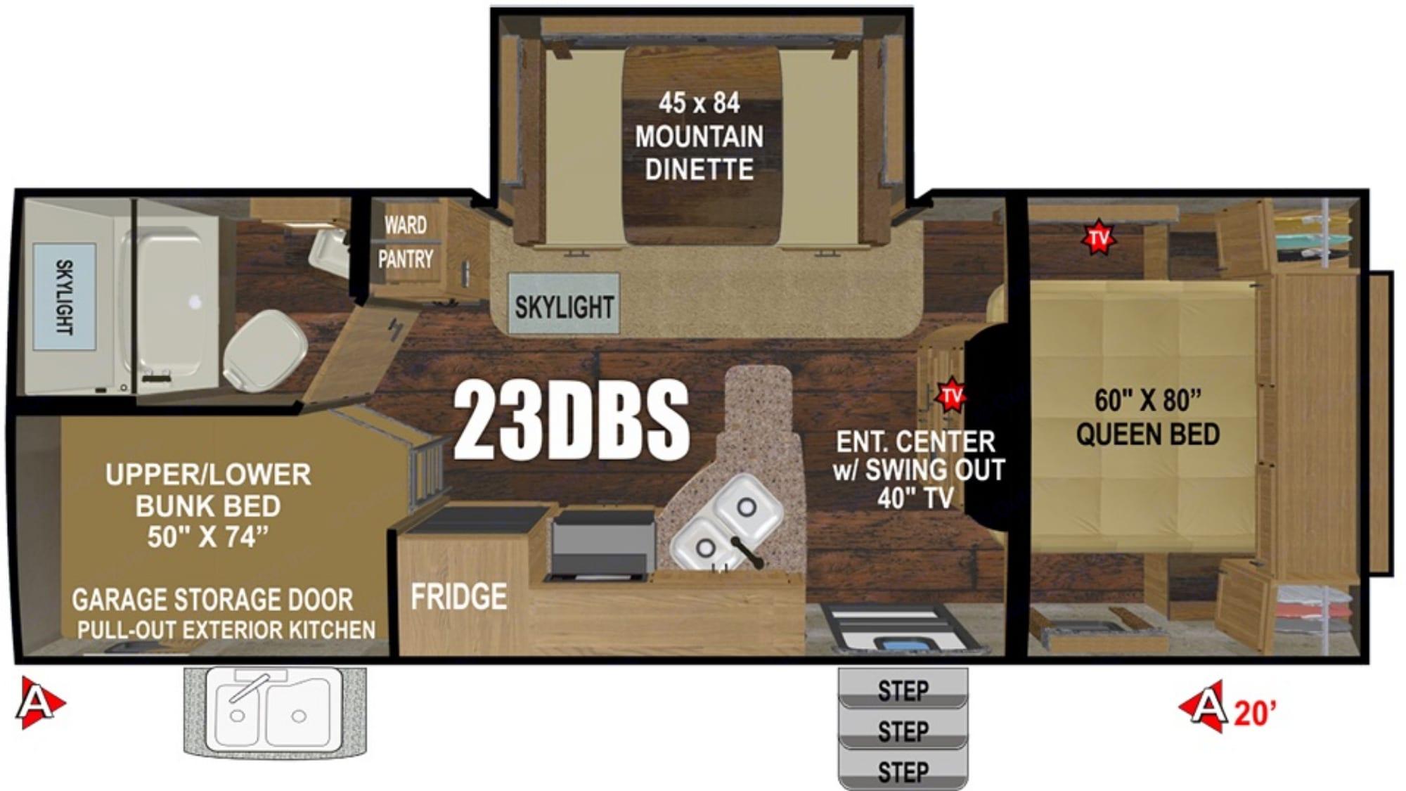 Floorplan. Timber Ridge 23DBS 2019
