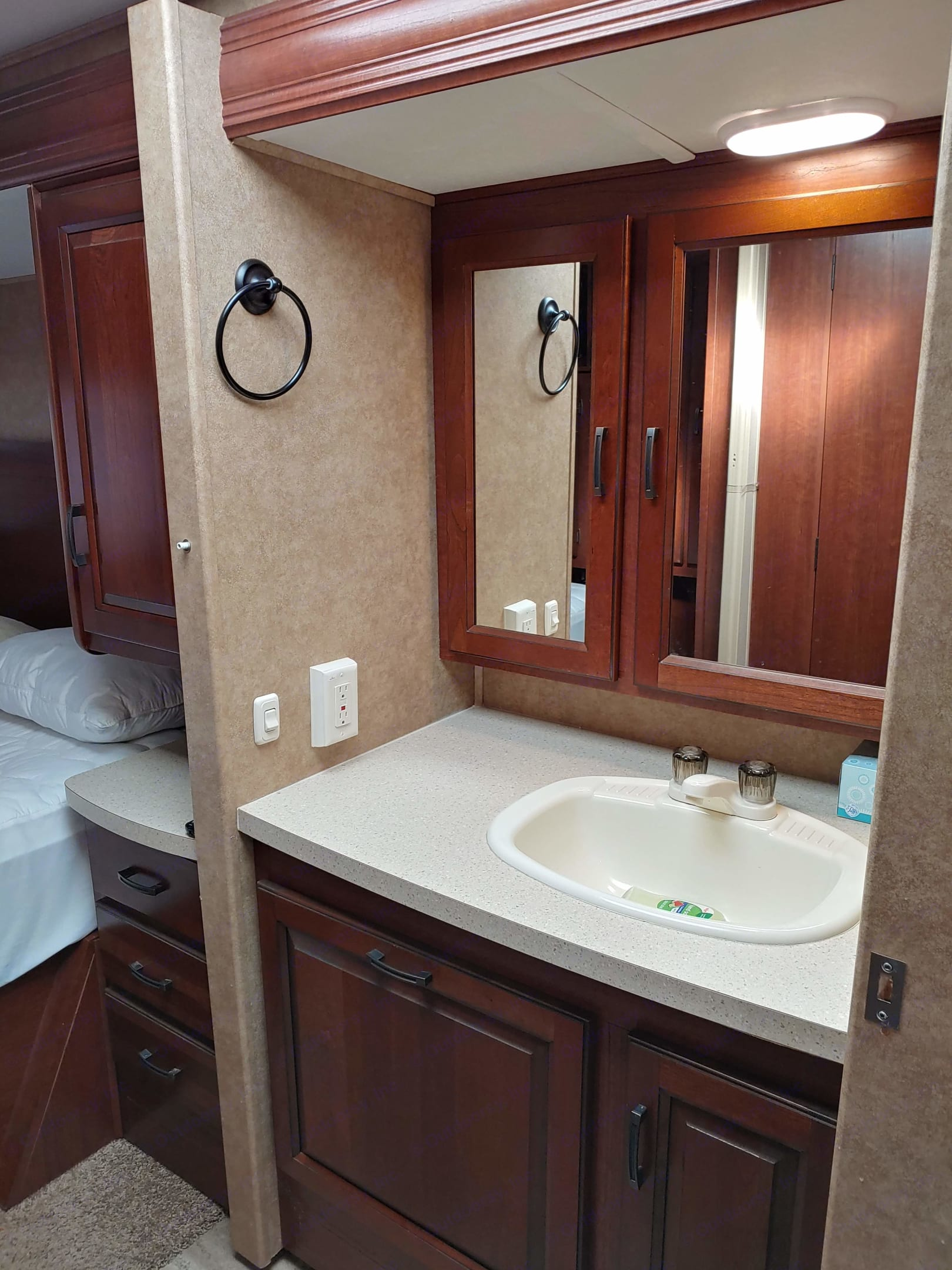 Sink and Medicine Cabinet. . Forest River Sunseeker 2014