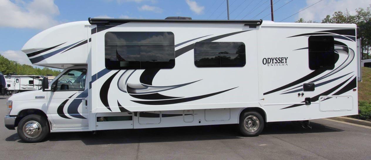 Driver Side Exterior View. Entegra Coach Odyssey 2020