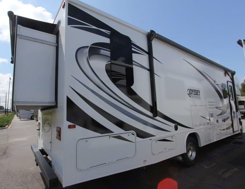 Rear Passenger Side View. Entegra Coach Odyssey 2020