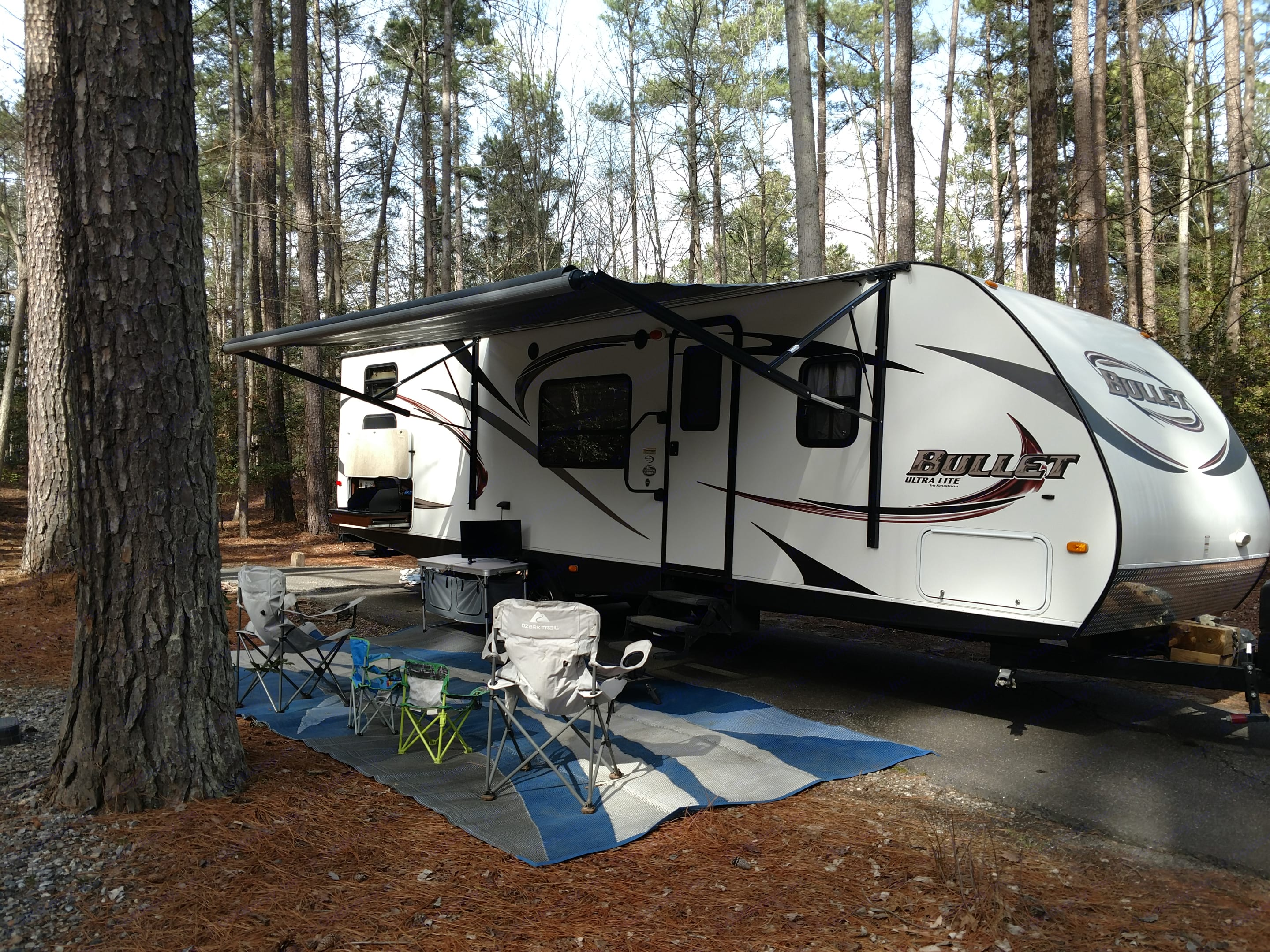 Perfect Family Camper, Will provide everything you need to camp and have a great time.  Outdoor Kitchen, Outdoor smart TV--Very well maintained camper. Keystone Bullet 2013