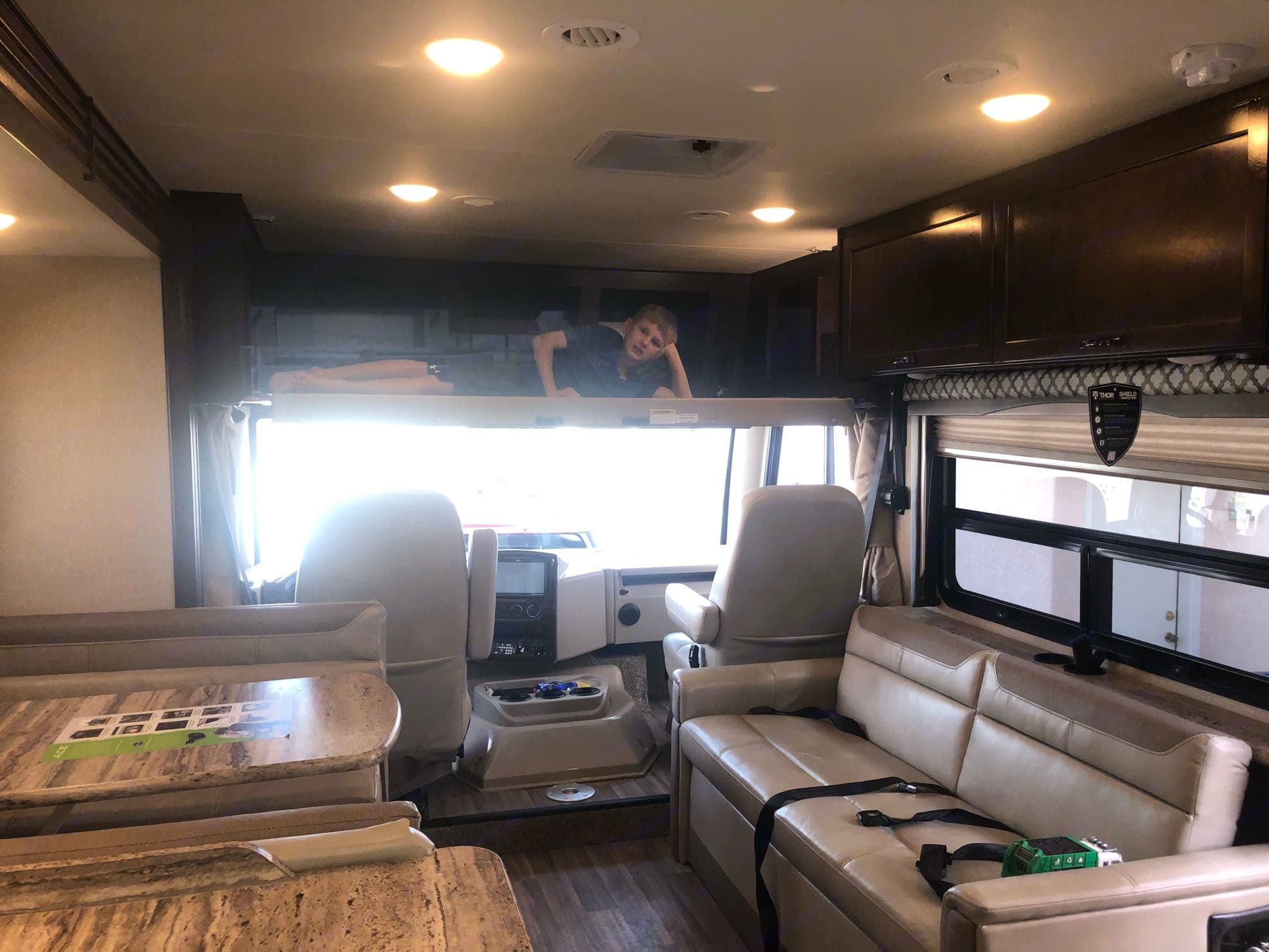 overhead bunk. Thor Motor Coach A.C.E 2019
