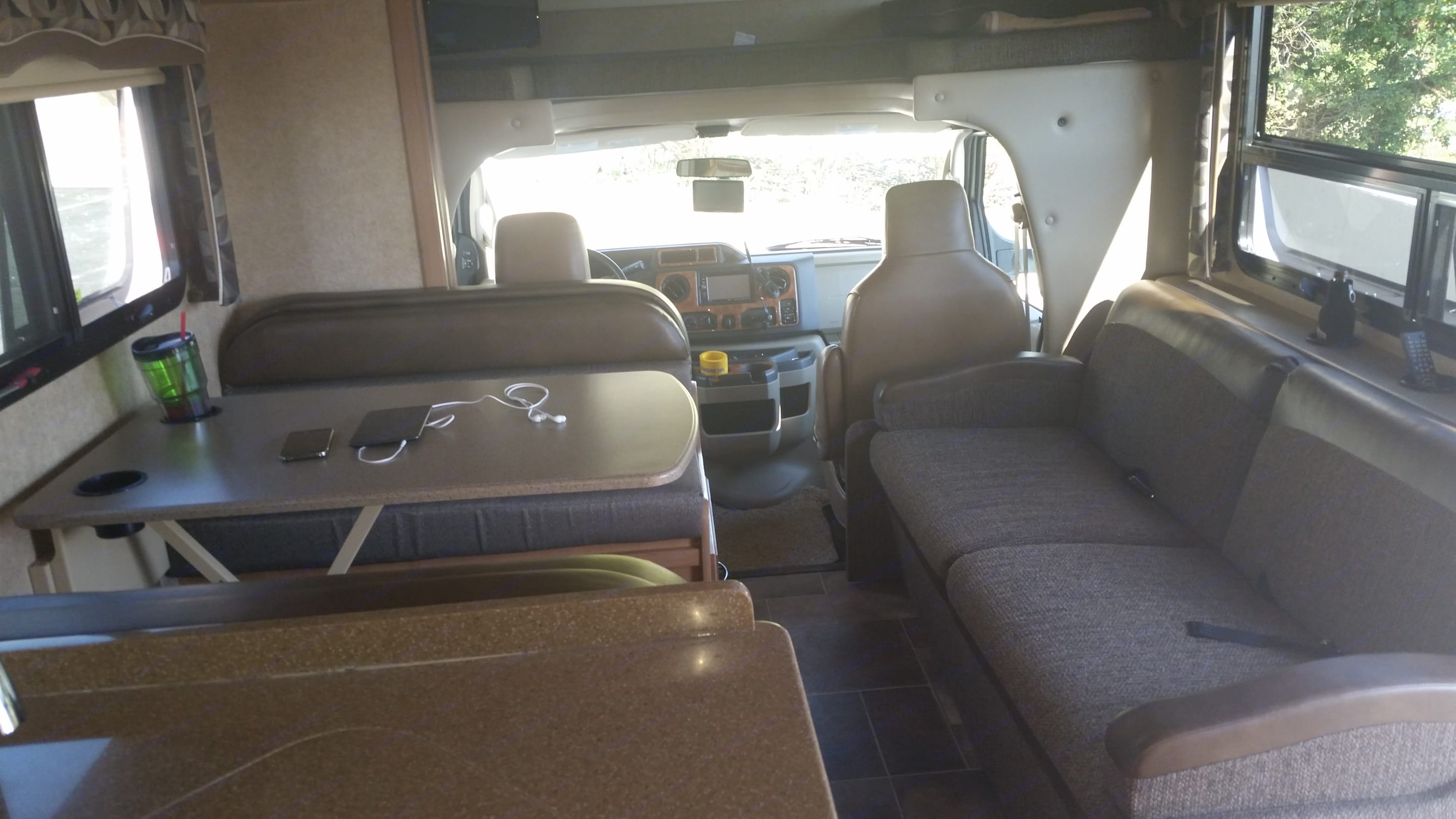 Couch folds out to become bed. Thor Motor Coach Chateau 2016